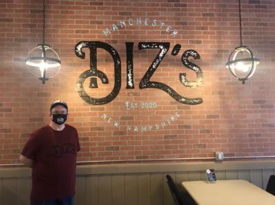 Gary Diz Window_Diz's Cafe_Manchester NH