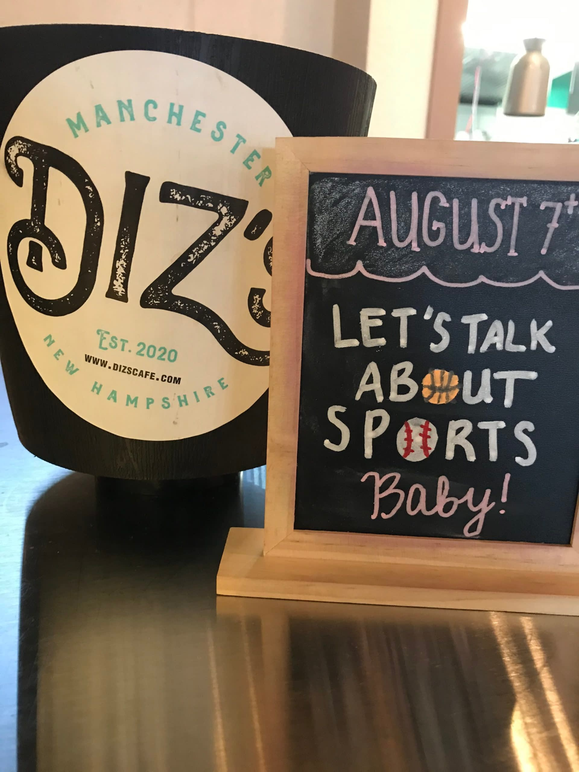 Let's Talk About Sports Baby_Theme Night at Diz's Cafe