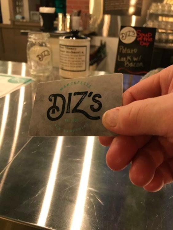 Diz's Gift Card